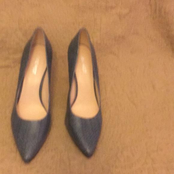 Steve Madden Shoes - Blue snakeskin print leather shoes